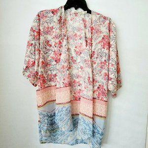 Liberty Love Pink Floral Kimono Large